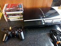 Sony PlayStation 3 Phat PS3 80GB Console Bundle (CECH-L03) 8 Games - Tested