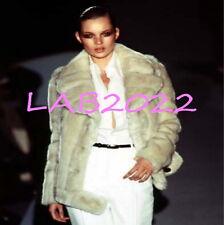 "Gucci Tom Ford  1996 Famous Kate Moss Blonde ""Vegan"" F A U X Fur Coat Chic"