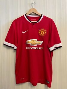 Manchester United 2014/2015 Home Sz L Nike soccer shirt jersey football maillot