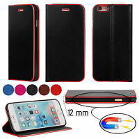 New Ultra Slim Stylish Design Flip Wallet Leather Case Cover For Mobile Phones