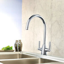Chrome High Arc Kitchen Swivel Spout Single Handle Brass Sink Faucet Mixer Tap
