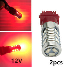 2PCS Universal 3157Red LED Stop Brake Flash Strobe Rear Light Bulbs Driving Safe