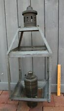 Outdoor Brass & Copper Lamp Post light Vintage Lantern Handmade Large NO GLASS