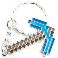 Brand New Licensed Minecraft 2018 Diamond Pickaxe Metal Keychain Key Ring