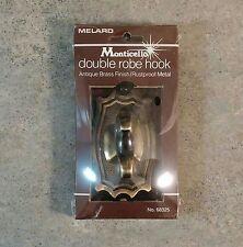 Brand New 1982 Melard Monticello Double Robe Hook