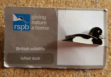 RSPB pin badge - tufted duck 002 - giving nature a home