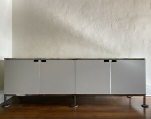 Florence Knoll Credenza 4 Position Marble Sideboard Mid Century Modern Eames