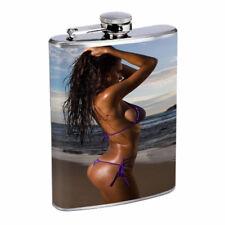 Bali Pin Up Girls D1 Flask 8oz Stainless Steel Hip Drinking Whiskey