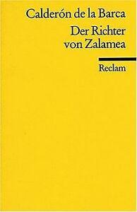 Der Richter von Zalamea von Pedro Calderón de la Barca   Buch   Zustand gut