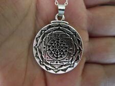 Necklace Sri Yantra Mandala Pendant Tibetan Meditation Buddhist Amulet Talisman