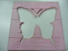 Pottery Barn Kids Butterfly picture Bead board shiplap plaque Wooden  Wall Art