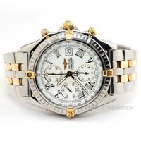 Breitling Windrider Crosswind Chronograph Wristwatch B13055 Steel Gold