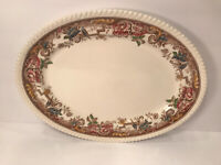 VINTAGE DEVONSHIRE PLATTER JOHNSON BROS. ENGLAND 14X11 BACKSIDE CHIP