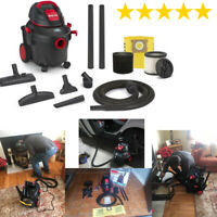 Shop-Vac 4-Gallon 5.5-HP Wet/Dry Home Garage Shop Vacuum Cleaner Lightweight