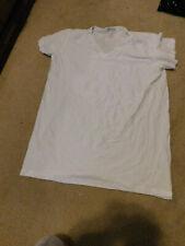 "Duluth Trading Men'S ""Go Buck Naked"" V Neck White Stretch T Shirt Size Xl New"
