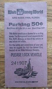 Vintage 1975 Walt Disney World 50 Cents Parking Pass Lake Buena Vista Florida