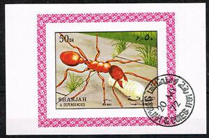 Sharjah Fauna Insects Ant Souvenir Sheet 1972