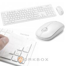 Kit Tastiera e Mouse Bianco Wireless Vultech KM-750WB 1600DPI Regolabili 2,4GHz