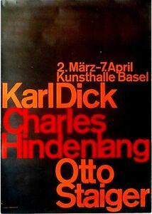Original vintage poster DICK HINDENLANG STAIGER ART EXPO c.1965 Hofmann