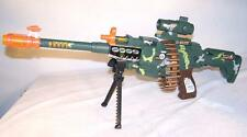 LIGHTUP MOVING TOY MACHINE GUN play rifle comoflauged ROTATING TOY FAKE BULLETS