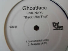 "Ghostface ""Back Like That"" feat. Ne-Yo Single Vinyl LP Mixes Def Jam"