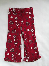 GYMBOREE ALPINE SWEETIE RED HEART WINTER PANTS LEGGING HOLIDAY SIZE 18-24 MONTHS
