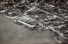 Paramaribo Suriname Ship Quays Aerial View Real Photo Postcard