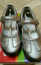 Stride Rite 9W Blaire Pewter Silver/Metallic Patent Mary Jane~Athletic~Dress