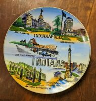 """Vintage Indianapolis Indiana Sonsco Collector State Souvenir Plate 6 1/4"""""""