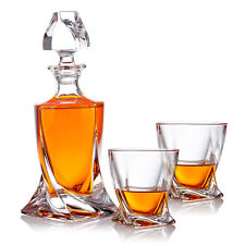 Bottle Carafe Whisky Set Gift Set Made of Glass 2 Whisky Glass Decanter Present
