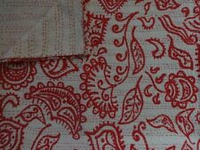 Block Print Fabric Kantha Throw Blanket Indian Quilt Queen Boho Tribal Bedding