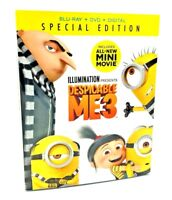 Despicable Me 3 (Blu-ray+DVD+Digital, 2017: 2-Disc Special Ed.) NEW w/ Slipcover