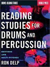 Reading Studies For Drums and Percussion Music Tuition Book by Ron Delp New