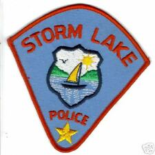 STORM LAKE  POLICE  PATCH