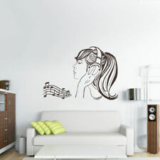 Wall Decal Vinyl Sticker Headphones Music Notes Beats Audio Cord Relax Z2661