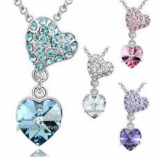 Heart White Gold Plated Costume Necklaces & Pendants