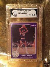 Phoenix Suns 1985-86 Star Basketball Bag Set GAI 9.5 BGS