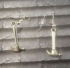 Pink Floyd Tribute Hammer Earrings...925  Silver Hooks