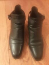 Vintage Naturalizer Black Ankle Boots Womens Size 9W Buckle W/Elastic Side