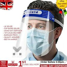 ANTI FOG SHIELD CLEAR GLASSES FACE PROTECTION FULL FACE COVERING VISOR SAFETY