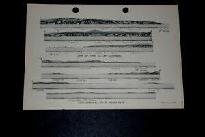 COASTAL VIEWS CAPE CORNWALL; LANDS END TO GODREVY ISLAND 1896 Navy 1943