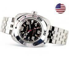Vostok Amphibian 710335 Watch Russian Diver Automatic Military Black