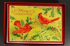 New Holiday Christmas Cards Cardinal 16 Count Boxed Image Arts Hmk Lic. Envelope