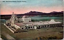 Postcard AR Tucson San Xavier Mission - RARE VIEW - 1910s J2