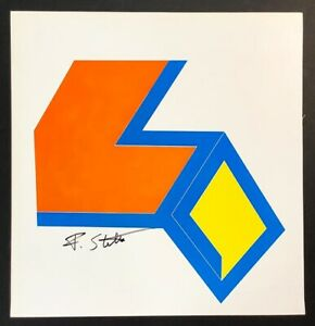 Hand signed Signature -  FRANK STELLAR -  Abstract Vintage Multi-Colored Print