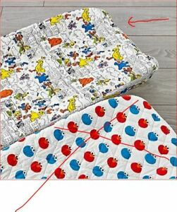 """NEW Crate and Kids The Land Of Nod Sesame Street """"comic"""" Changing Pad Cover"""