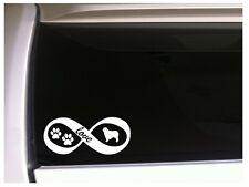 "Australian Shepherd Love Infinity vinyl car decal 7"" L89 pets puppyanimal dogs"