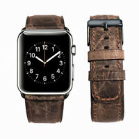 40/44mm Replacement Genuine Leather iWatch Band Strap for Apple Watch 4 38/42mm