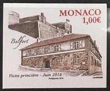MONACO n° 3030 Belfort ancien fief des Grimaldi non dentelé imperf TB **