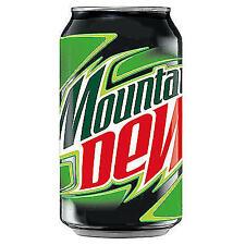 24 doses a 0,33 l Mountain Dew inclus 6,00 € de consigne Boîte